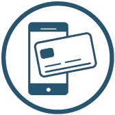 Image of mobile phone with credit card on top